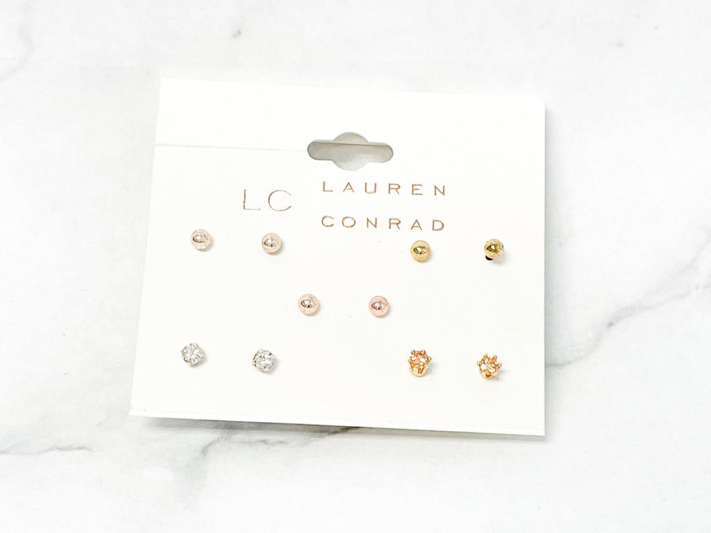 Lauren Conrad Delicate Studs | 5 Pairs