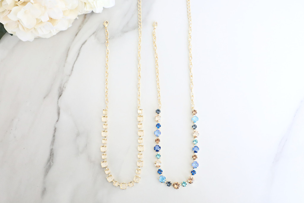 6mm & 8.5mm | Alternating 23 Setting Necklace | One Piece