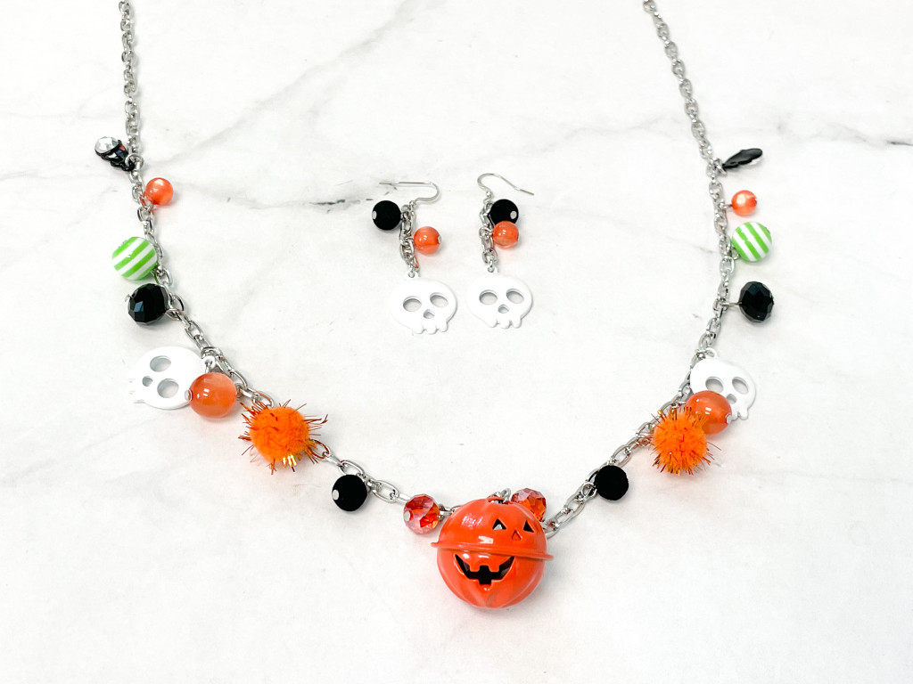 Halloween Charm Necklace and Earring Set