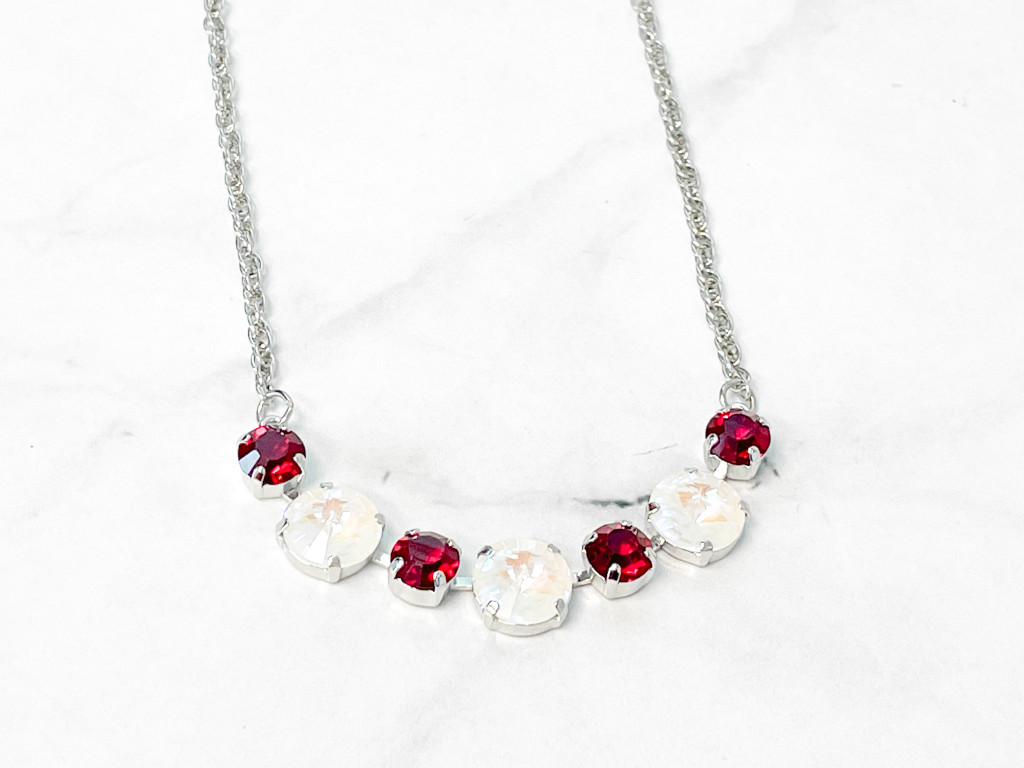Merry and Bright Alternating 12mm & 8mm Necklace