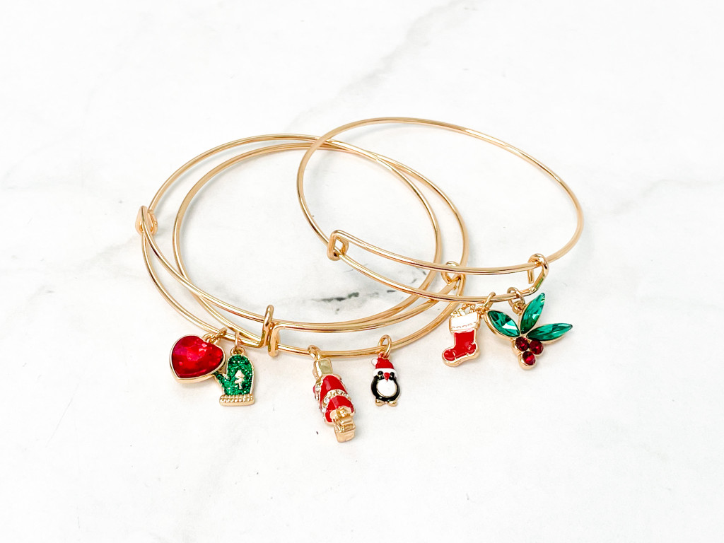 Gold All is Calm All is Bright 3 Bangles Set