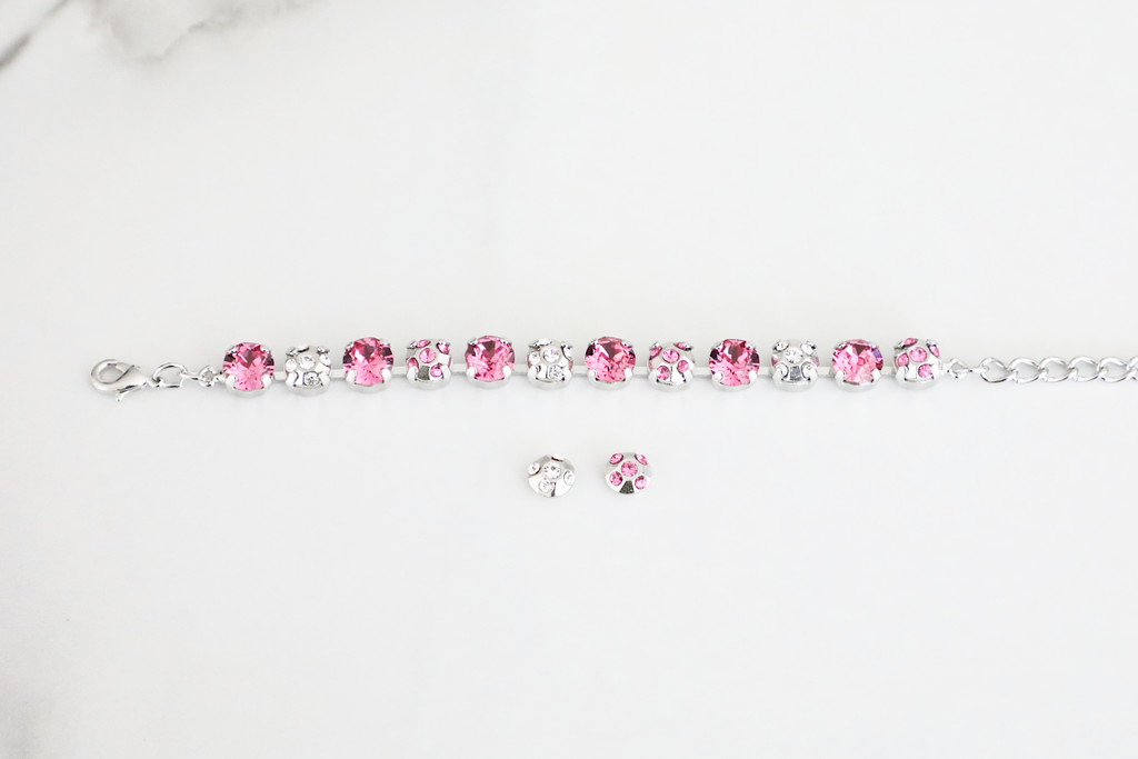 8.5mm   Five Crystal Elements   3 Pieces