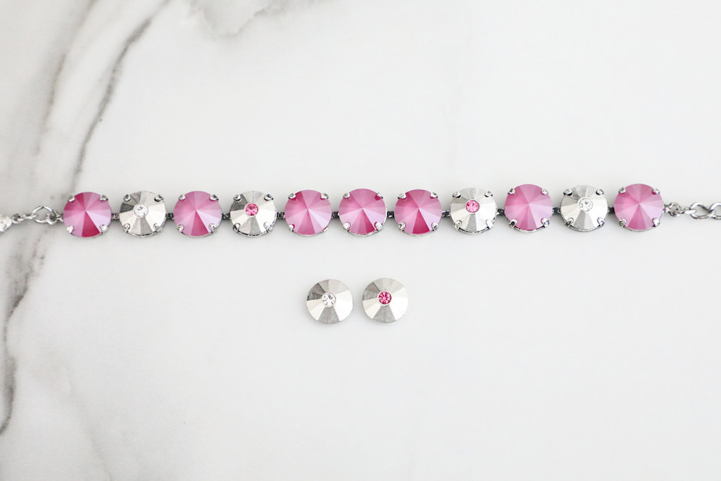 12mm Round | One Crystal Elements | 3 Pieces