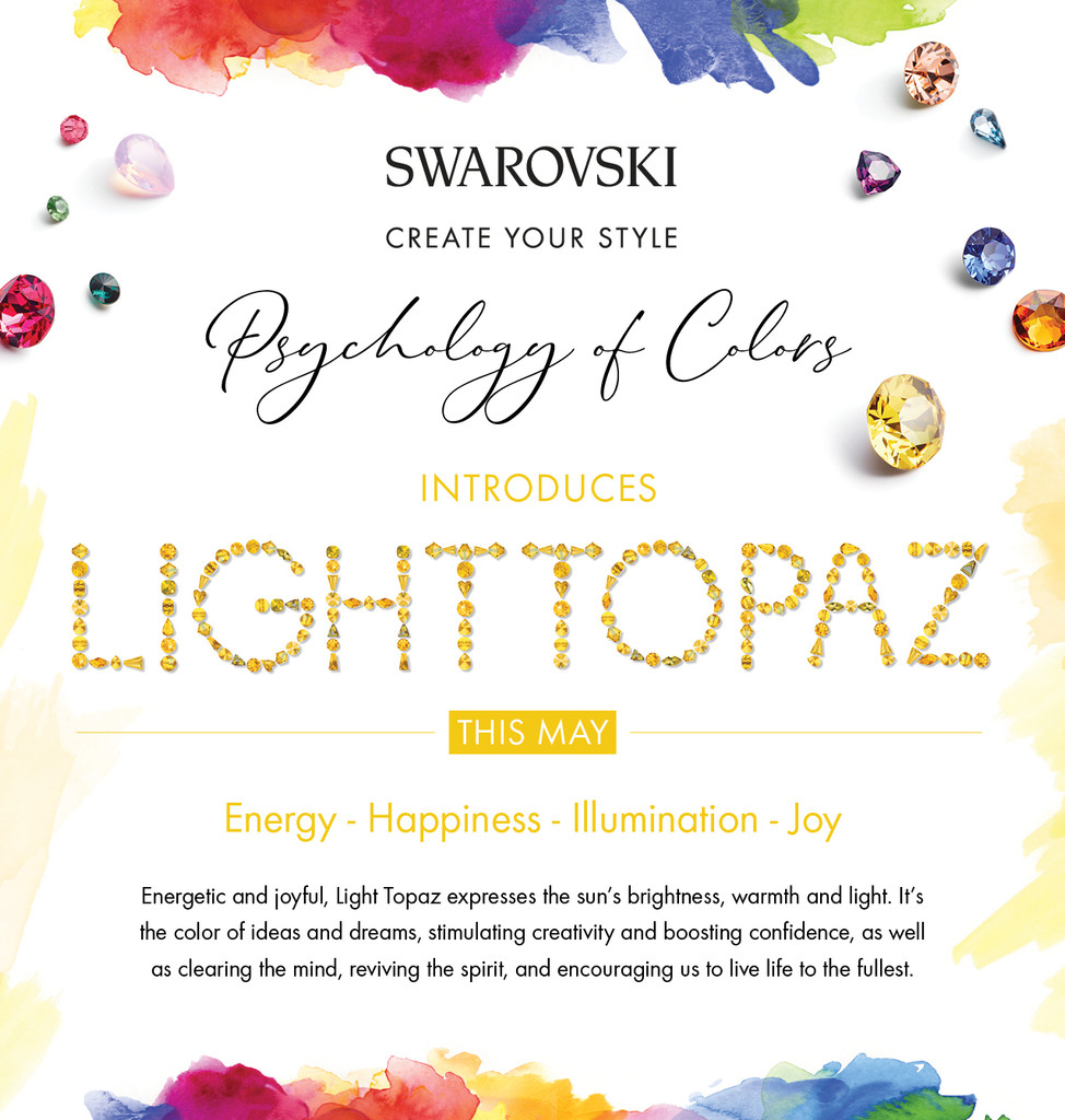 Swarovski - Psychology Of Colors - May | Light Topaz