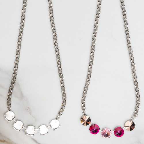 12mm Round | Five Setting Necklace