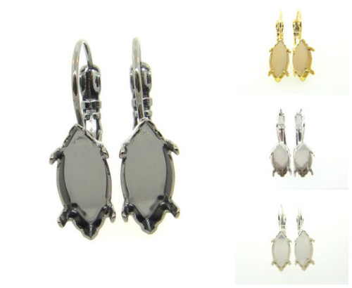 15mm x 7mm Navette Drop Earring different finishes