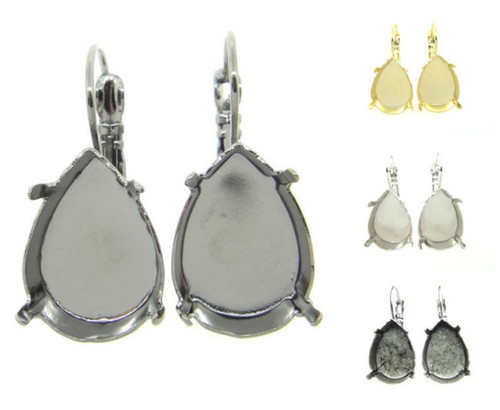 18mm x 13mm Pear Drop Earring different finishes