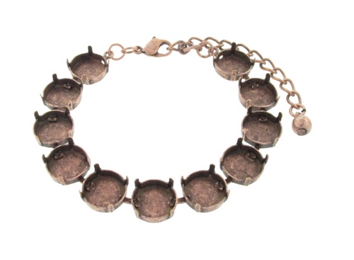 12mm Round | Classic Eleven Setting Bracelets | Three Pieces