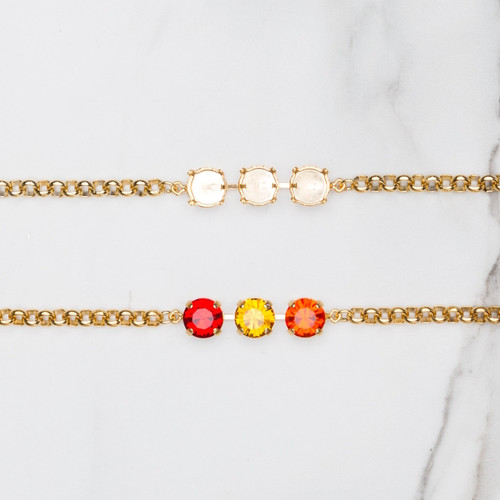 11mm | Classic Three Setting Bracelets, zoom