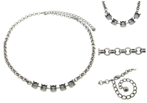 8.5mm Classic Five Setting Necklace view 3