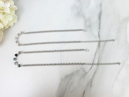 8.5mm Classic Five Setting Necklace view 2