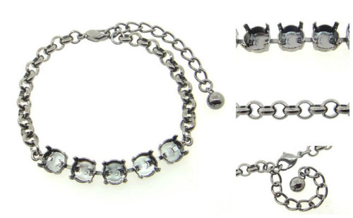8.5mm | Classic Five Setting Bracelets | Three Pieces