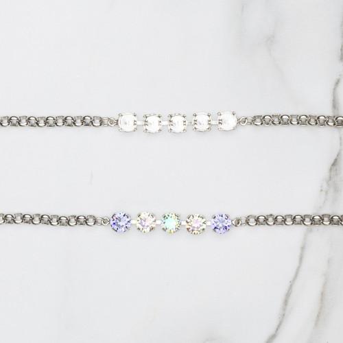 8.5mm | Classic Five Setting Bracelets | Three Pieces