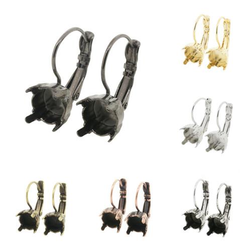 8.5mm (39ss) One Box Lever Back Empty Earrings
