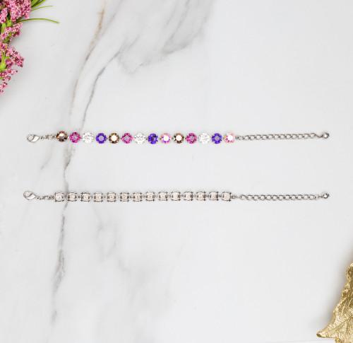 8.5mm   Classic Fourteen Setting Bracelets   Three Pieces