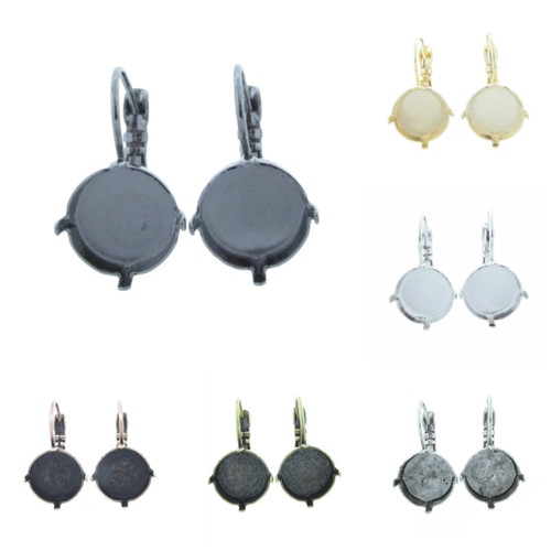 12mm Round Classic Drop Earring different finishes