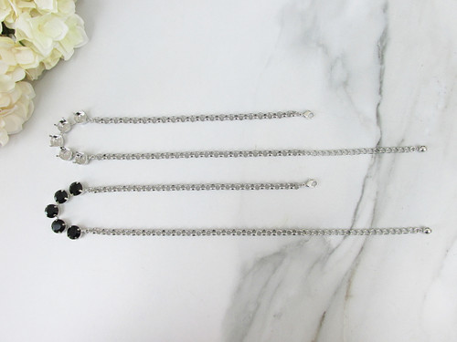 11mm   Classic Five Setting Necklace   Three Pieces
