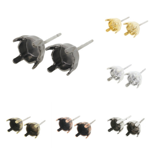 6mm (29ss) Stud Empty Earrings