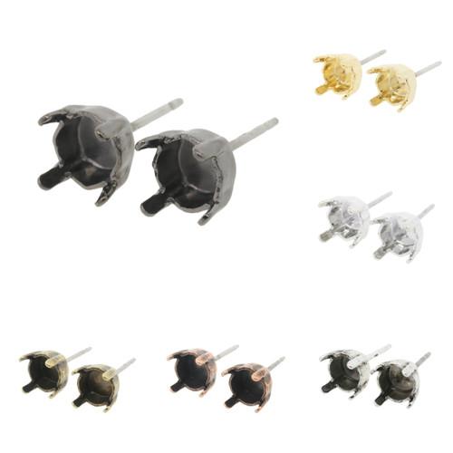 6mm (29ss) Stud Empty Earrings