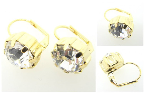 Austrian Crystal Earrings Gold