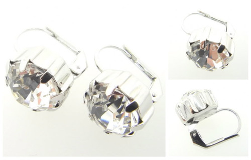Austrian Crystal Earrings Rhodium
