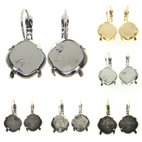 12mm Square Drop Earring different finishes