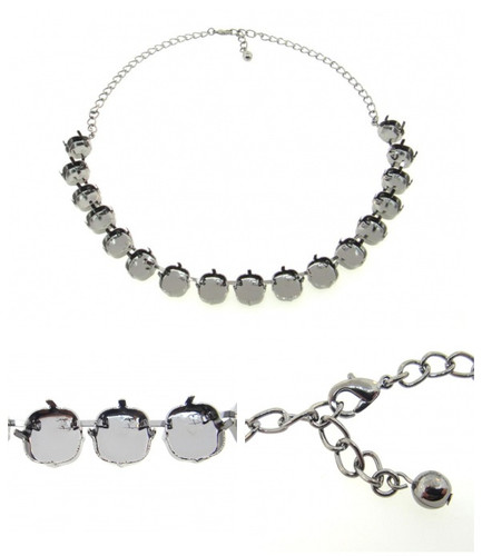 12mm Square | Classic 17 Setting Necklace view 2