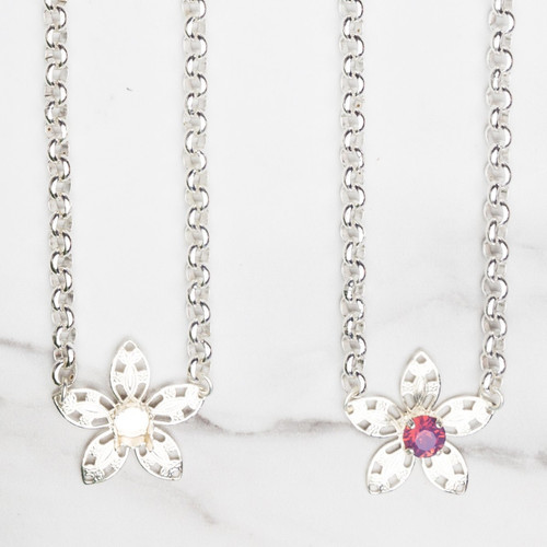 8.5mm | Flower Filigree Necklace | Three Pieces