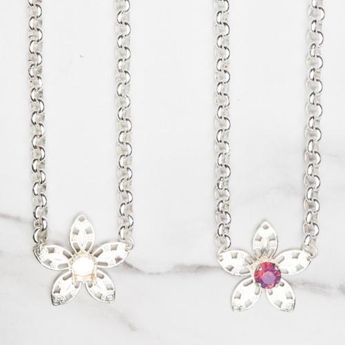 8.5mm   Flower Filigree Necklace   Three Pieces