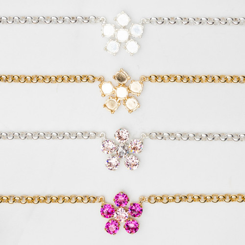 8.5mm | Single Flower Necklace | Three Pieces
