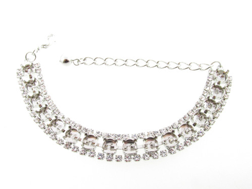 Special Design Empty Bracelets Style 15 - 6mm (29ss) With Crystal Rhinestones