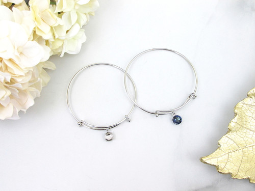 Expandable Bracelets With 8.5mm Empty Setting in Rhodium