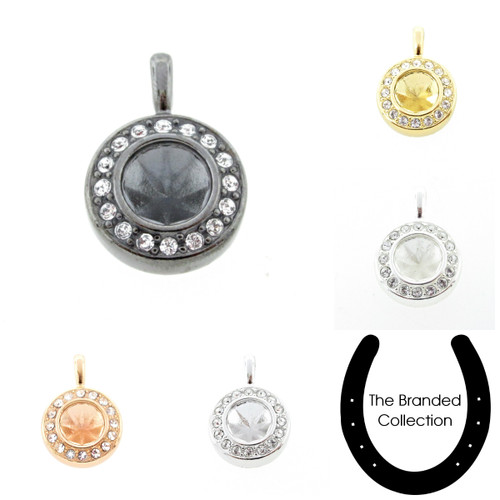 8.5mm   Crystal Pave Casted Pendant   One Piece