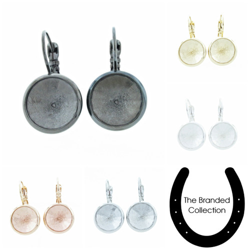 12mm Round | Casted Drop Earrings | One Pair