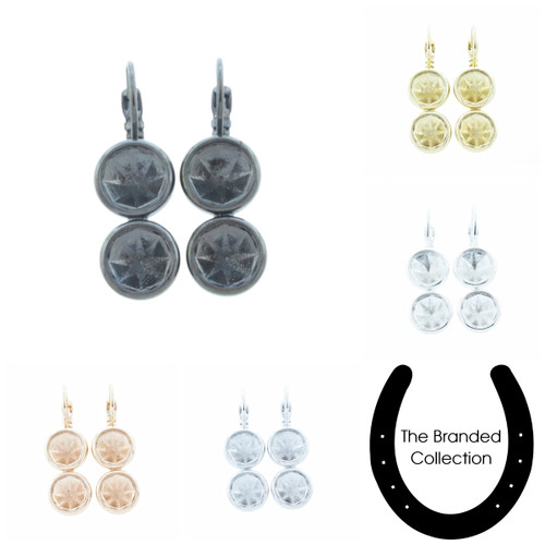 8.5mm Casted Two Setting Drop Earring