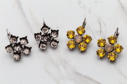 8.5mm Flower Drop Earrings