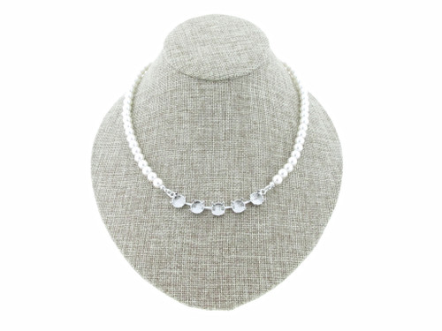8.5mm (39ss) 5 Box Empty Necklace With Faux Pearl Strands