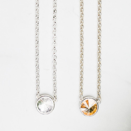 14mm Round | Single Setting Casted Necklace | One Piece