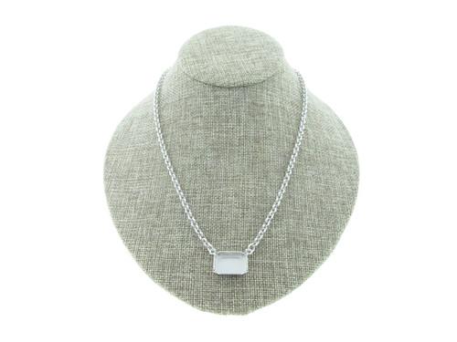 18mm x 13mm Octagon Sideways Single Pendant Empty Necklace