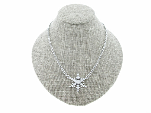 8.5mm (39ss) Single Snowflake Empty Necklace Small Smooth Rolo Chain