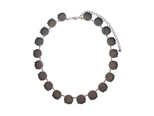 18mm Rivoli Round 20 Box Empty Necklace in Copper Ox
