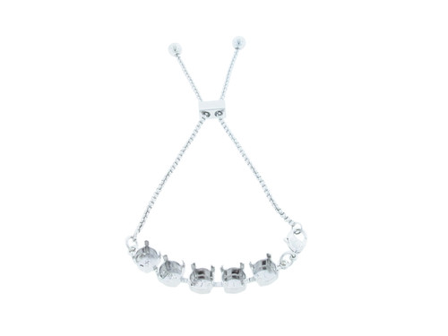 8.5mm | Five Setting Adjustable Slider Anklet | One Piece