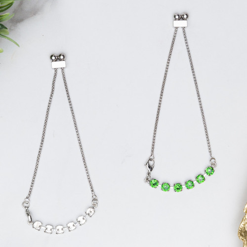6mm | Six Setting Adjustable Slider Anklet | One Piece