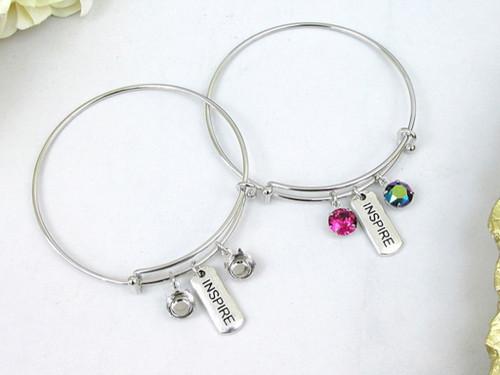 Inspire Charm Bangle Bracelet