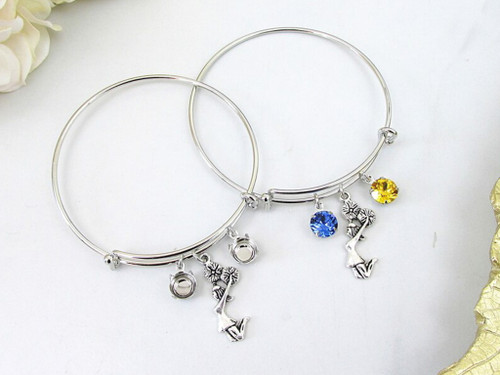 8.5mm | Cheerleader Charm Bangle Bracelet | One Piece