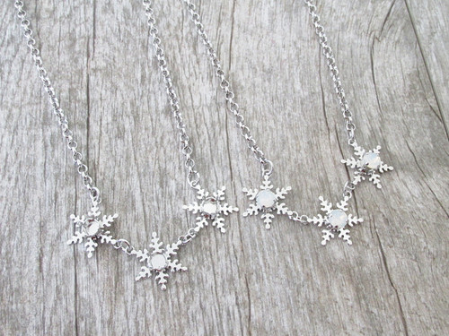 6mm (29ss) Triple Snowflake Empty Necklace