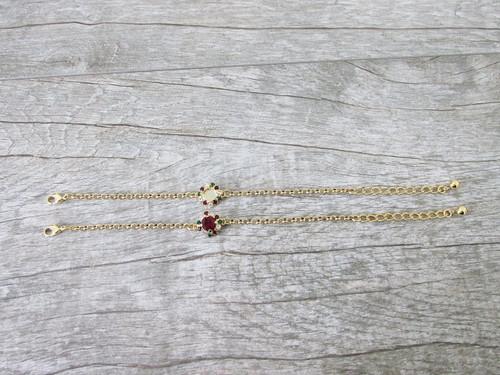 8.5mm | Christmas Crystal Halo Bracelet | One Piece