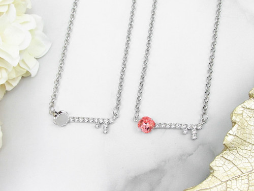 10mm Square | Key To My Heart Necklace | One Piece