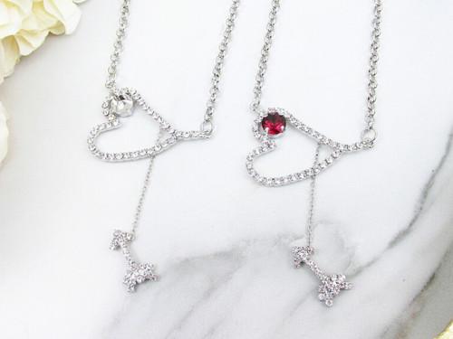8.5mm | Cupid's Arrow & Heart Necklace | One Piece