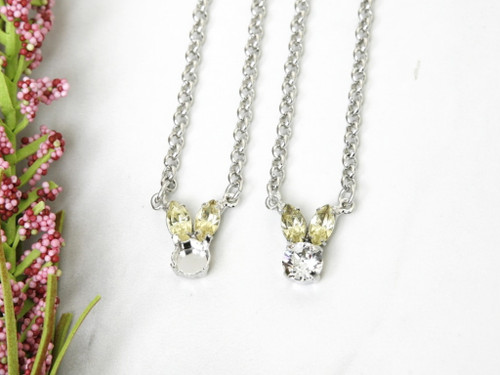 8.5mm | Small Bunny Crystal Rhinestone Necklace | One Piece